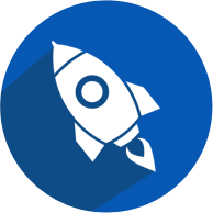 Rocket Mission Icon implying Organizational Mission