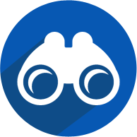 Binocular Icon implying Organizational Vision